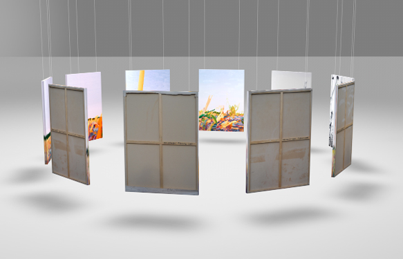 Friederike Hinz Malerei MON-810-Installation Perspektive 1